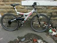 "OFFER AVAILABLE Silver Mountain Bike 26"" WITH Suspensions ADULTS BIKE ONLY £37.99"