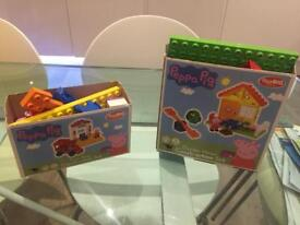 Peppa pig garden home and train stop