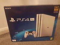 PS4 Pro - Glacier White (new and unopened) - Can deliver locally