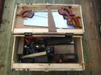vintage toolchest& contents stanley/disston/tyzacks etc