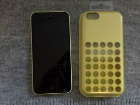 iPhone 5c (O2, GiffGaff, Tesco |14 Day Guarantee|32GB|Deliver+Post|Apple|Yellow) [