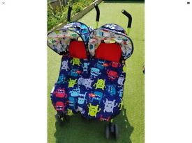 Double pushchair, double buggy, double pram, double stroller, twin pushchair, twin stroller, buggy