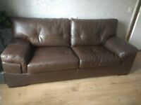 Fake leather settee in excellent condition