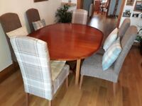 Dining room table with four upholstered Next dining 'Sienna' chairs