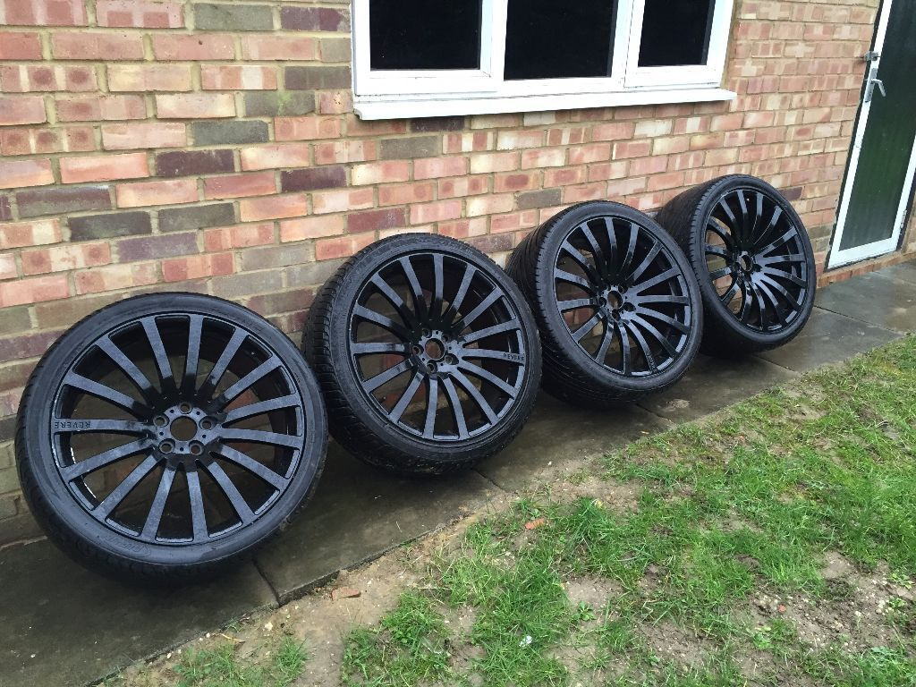 Revere Alloys Wc2 Black Range Rover Bmw 22 Inch Tyres Discovery Vogue Sport X5 In Luton