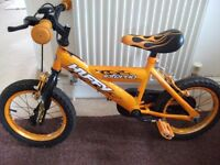 Boy's Bicycle 10'' wheels, excellent condition. Suit 4+. His first 'big' bike.
