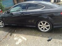 mercedes c-class c180 2011 coupe BREAKING petrol ENGINE AND GEARBOX AVAILABLE