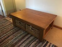 Oak TV table and Coffee table both with drawers