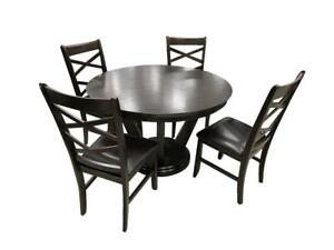 5 PC Round Wooden Dining Set (MA209)