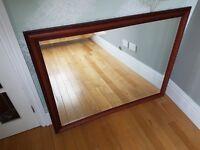 Wooden Framed Mirror 113cm x 88cm