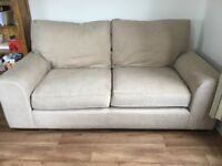Large cream m&s sofa