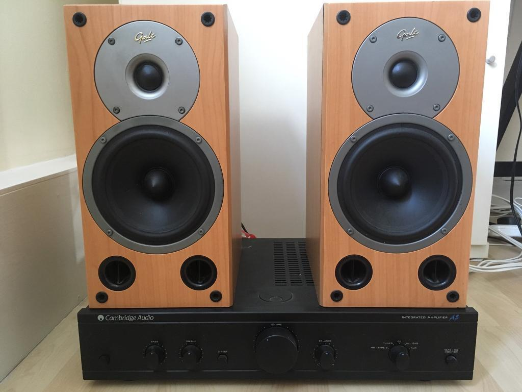Cambridge Audio A5 Amplifier Gale 3020 Bookshelf Speakers And Biwires