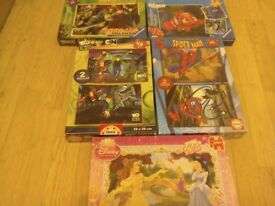JIGSAWS - Ninja Turtles, Finding Nemo, Spiderman, Ben 10, Disney Princess.