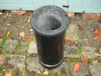 60 slates, black glazed chimney pot, terracotta cowl