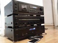 DENON SEPARATES AMP/CD/TAPE
