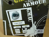 G - MAC PILOT MOTORBIKE HELMET - LARGE - WHITE - STILL BOXED