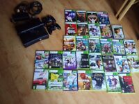 XBOX 360 Slim, Kinect and Games