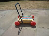 Toddler Wooden Truck with Bricks