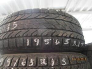 195/65R15 SET OF 2 ONLY USED BF GOODRICH WINTER TIRES