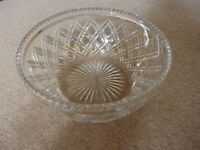 Lovely cut glass crystal fruit bowl