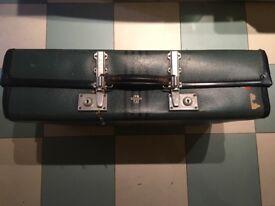 Vintage Revelation Expanding Suitcase Green 1950s
