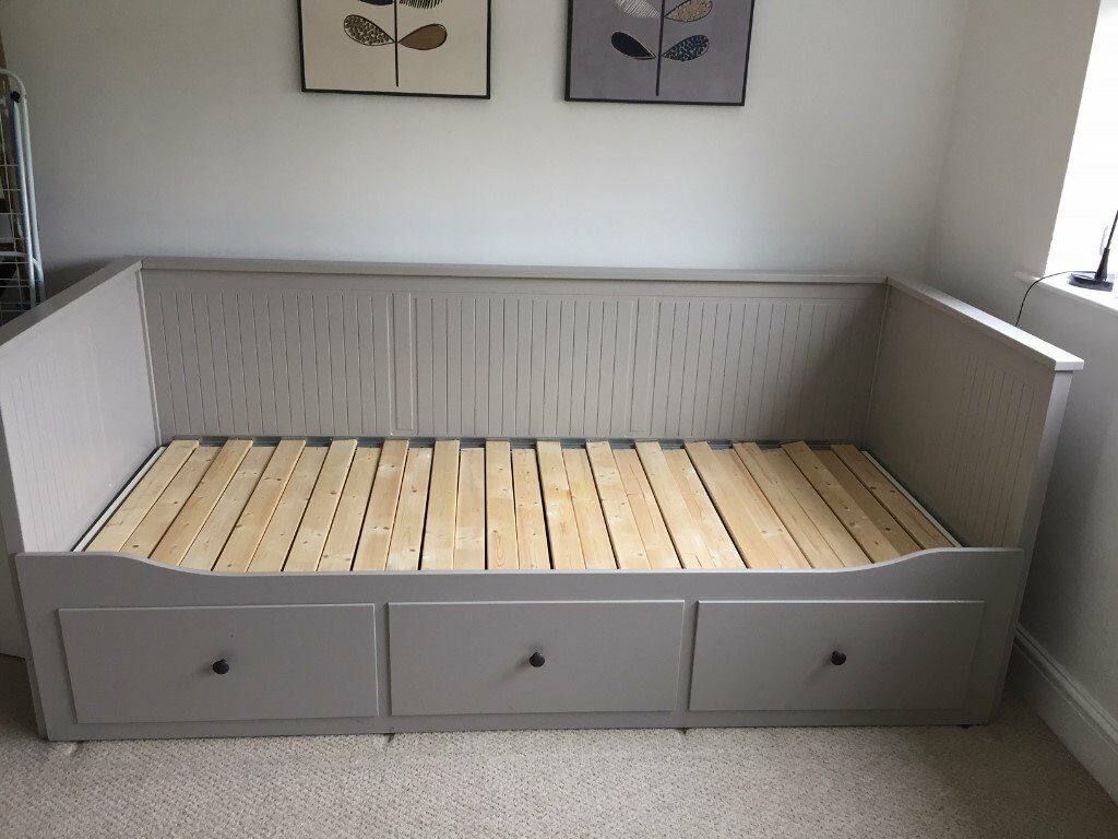 Ikea Day Bed Frame With 3 Drawers Hemnes Grey In Bishop