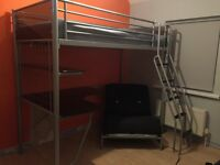 Single Bunk Bed with futon