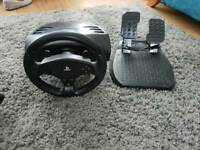 Thrustmaster t80 steering wheel and pedals for ps3 /ps4