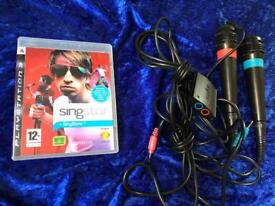 SingStar microphones and game PS3