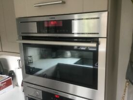 AEG integrated microwave combination oven (KR8403001)
