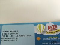 Rise festival weekend tickets