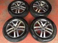 "16"" GENUINE VW JETTA GOLF MK5 MK6 ATLANTA BIOLINE ALLOY WHEELS TYRES 5X112 CADDY PASSAT"