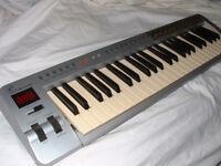 Midi controller keyboard: 49 key; USB and Midi DIN socket