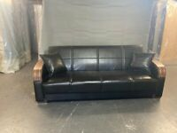Sale offer on turkish leather sofa bed 3 seater