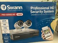 Set of Swann pro hd security system