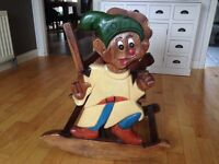 Children's disney solid wood rocking chair