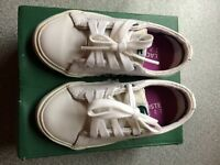 Leather Lecoste marcel pit trainers infant size 5 £10