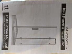 Balat 1200mm frameless shower door/screen