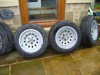 alloy wheels/tyres for 2wd toyota hilux pickup