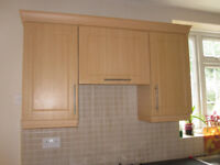 B&Q Beech Shaker Kitchen Units. Base&Wall units with doors,drawers&handles VGC Collection only6
