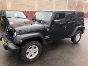 2014 Jeep WRANGLER UNLIMITED Sport, Automatic, A/C, 4x4, Only 18