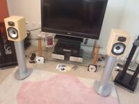 Monitor Audio BR1 speakers and soundstyle stands