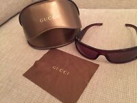 Rare GUCCI sunglasses,perfect condition,original carry case and cloth,a real bargain for someone!