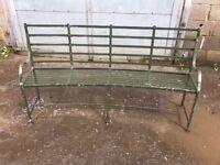 Galvanise steel bench 2x