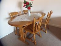 Dining table plus 4 chairs.