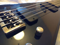 Dean Dime Razorback V Bass - Classic Black