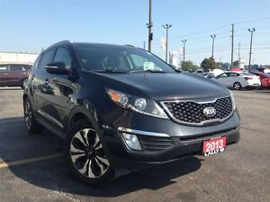 2013 Kia Sportage SX-T, Leather, Navi, Double Roof, Tow Package!