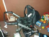 Beep twist travel system with denim colour pack