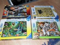 9 JIGSAW PUZZLES (4 RAVENSBURGER + 5 OTHER) + 1 RAVENSBURGER FREE