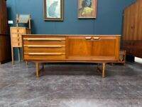 Compact Teak Sideboard by Stonehill of London. Retro Vintage Mid Century 1960s